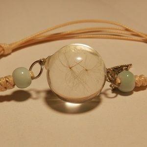 NEW Wishing Dandelion Seed Embed Slider Bracelet